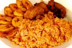Packed Jollof Rice