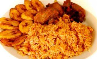 Packed Jollof Rice