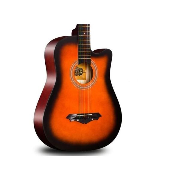 """KEY FEATURES Body Size : 39"""" Acoustic Woods : Top - Spruce, Back and Sides, Fingerboard & Bridge- Solid Rosewood Neck : Truss Rod, Scale Length 25.5"""", 43mm Nut Machine Heads : Die-cast chrome Decoration : Wooden inlay, pick guard, Multi bound Top, Bound Fingerboard, Back Stripe"""