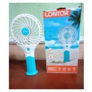 "Lontor 4"" Rechargeable Mini Standing/Hand Fan With Lithum Battery"