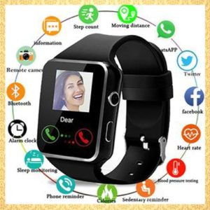 Bluetooth Smart Watches Touchscreen With Camera Watch Phone With SIM Card Slot Watch Cell Phone Black