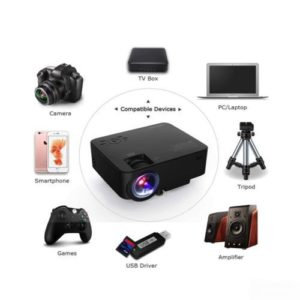 Dbpower Led Light Source Smart Home Theater Projector