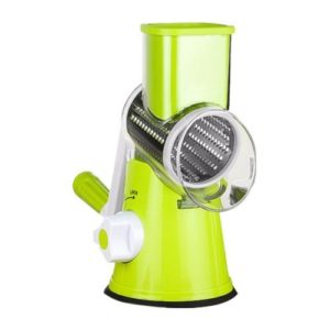 Multi-function Cutting Machine Fruit And Vegetable Chopper Manual Shredder Grater Stainless Steel Drum Shredder(Green)