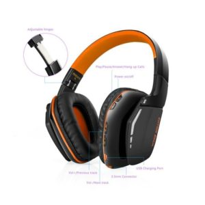 Technologg Headset KOTION EACH B3506 Bluetooth Headphones Wireless Headset Foldable Game Headset -orange