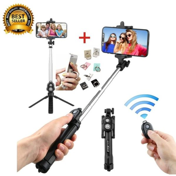 Bluetooth Remote Controller Hand-held Selfie Stick Tripod