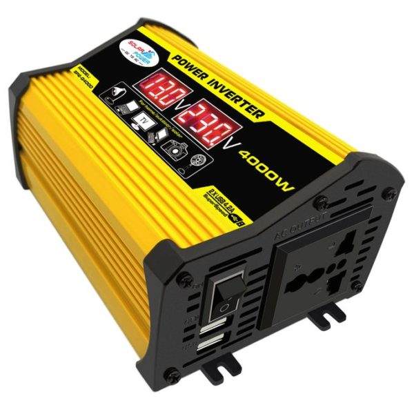 DC 12V To AC 220V Car Power Inverter Peaks Power 4000W Rated Power 400W