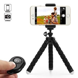 Selfie Tripod With Bluetooth Remote Control