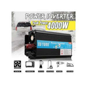 Solar Power Inverter 4000W LED 24V DC To 220V AC Sine Wave Converter